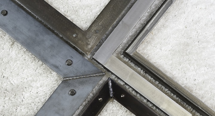 contemporary welded steel custom picture frames
