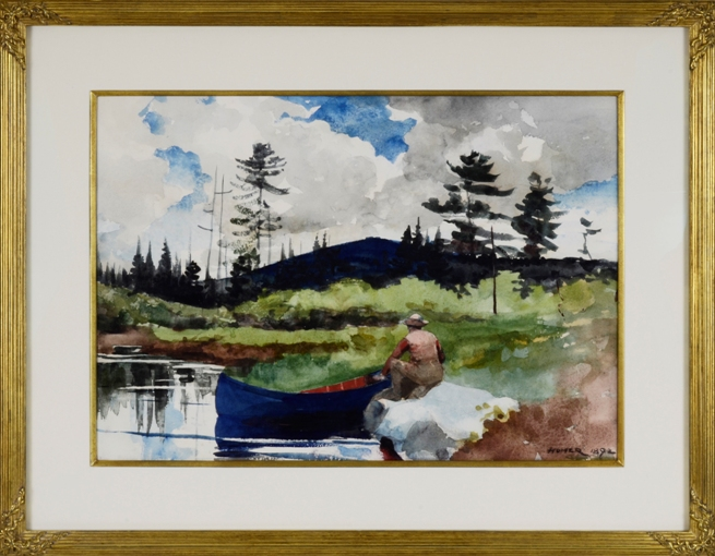 Winslow Homer, watercolor custom  framed by Oliver Brothers Custom Framing