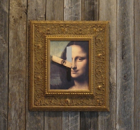 Contemporary Custom Framing-Mona Lisa