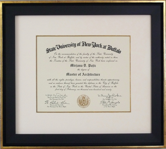 interesting and sofisticated diploma frame